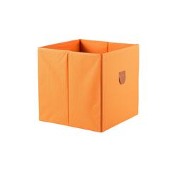 Regalbox ¦ orange ¦ Pappe, Polyester ¦ Maße (cm): B: 34 H: 34 T: 34