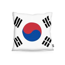 Kissenbezug, VOID, Süd Korea Polyester Flagge Fahne Fan WM Fussball 50 cm x 50 cm