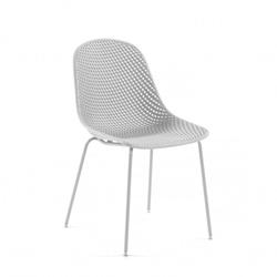 Esstisch Stühle in Weiß Skandi Design (4er Set)