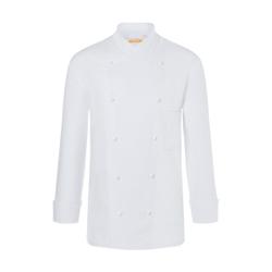 Karlowsky Thomas Kochjacke, weiß, Arbeitsbekleidung für Herren in normaler Passform, Größe: 48