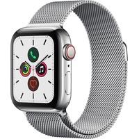 Apple Watch Series 5 GPS + Cellular 40 mm Edelstahlgehäuse, Milanaise Armband