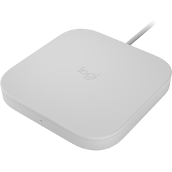 Logitech Powered Pad (9W), Wireless Charger, Weiss