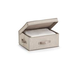HTI-Living Aufbewahrungsbox Aufbewahrungsbox mit Deckel Stripes, Aufbewahrungsbox 38 cm x 16.5 cm x 29 cm