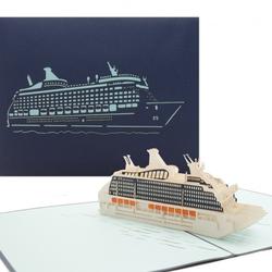 Colognecards Pop-Up Karte Kreuzfahrtschiff