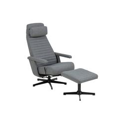 ebuy24 Relaxsessel Trane Recliner Sessel mit Drehfuss und Fußhocker i