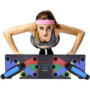 FuYouTa Push Up Rack Board mit Handgriff Push Up Rack Board System Fitness Workout Training Gym 9 in 1 System Push-up Bracket Board Tragbare Fitness Workout Gym Übungsständer