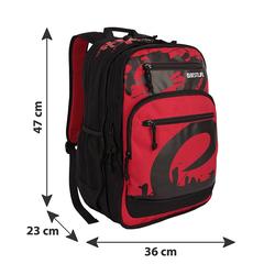 BESTLIFE Rucksack MERX rot/schwarz mit Laptopfach bis 15,6 Zoll