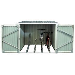 Gartenhaus aus Metall für 4 Fahrräder anthrazit 4,2m² + Verankerungskit X-METAL