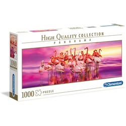 Clementoni® Puzzle Panorama High Quality Collection - Tanz der Flamingos, 1000 Puzzleteile, Made in Europe