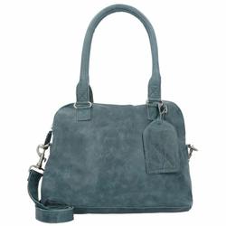 Cowboysbag Bag Carfin Schultertasche Leder 36 cm petrol