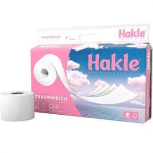 Hakle Toilettenpapier Traumweich, 4-lagig, Tissue, 130 Blatt, 8 Rollen