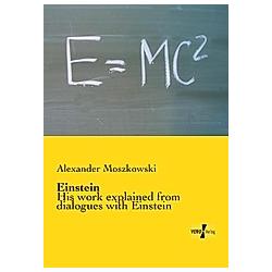 Einstein. Alexander Moszkowski  - Buch