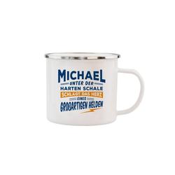 HTI-Living Becher Echter Kerl Emaille Becher Michael