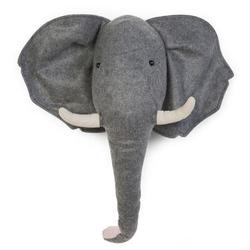 CHILDHOME Elefantenkopf aus Filz Wanddeko