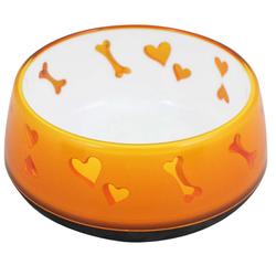 PETGARD Futternapf Dog Love Bowl Hundenapf, Fressnapf Wassernapf 600 ml orange