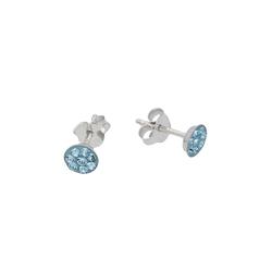 Vivance Paar Ohrstecker Blaue Kristalle