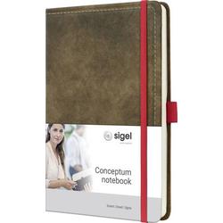 Sigel CONCEPTUM® CO607 Notizbuch kariert Braun Anzahl der Blätter: 97 DIN A5