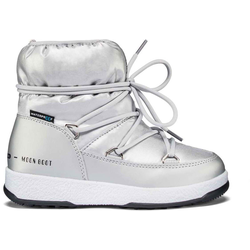 Moon Boots W.E. JR Girl Low Nylon WP - Moon Boots - Kinder Silver Met 30 EUR