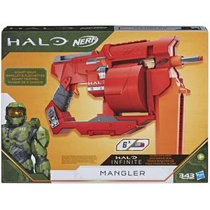 Hasbro E9273EU4 Nerf Halo Mangler Dart Blaster – Spannschlitten, 6-Dart Rotationstrommel – enthält 6 Nerf Elite Darts