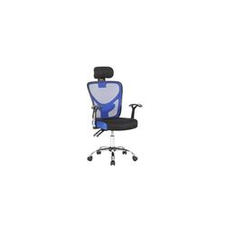 HTI-Line Drehstuhl Drehstuhl mit Kopfstütze Silas blau