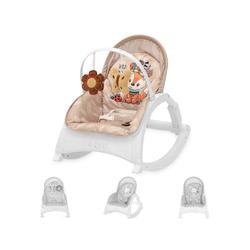 Lorelli Babywippe Babywippe und Stuhl ENJOY, mit Vibration, Musik, verstellbare Rückenlehne braun 50 cm x 63 cm x 66 cm