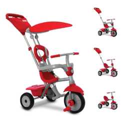 smarTrike® Zip Plus 4 in 1 Dreirad rot-grau