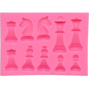 Kaixin Schach Silikonform, 3D Schachfiguren Silikonform Epoxidharz Craft Mould 3D International Schach Silikonharzform Schachharzform Gießform aus Epoxidharz für DIY Kunst Handwerk