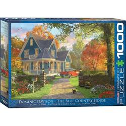 empireposter Puzzle Dominic Davison - Das blaue Landhaus - 1000 Teile Puzzle im Format 68x48 cm, 1000 Puzzleteile