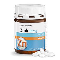 Zink-Tabletten 10 mg