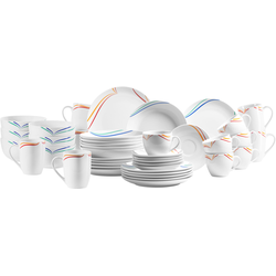 MÄSER Kombiservice Ciliana, (Set, 42 tlg.), buntes Dekor weiß Geschirr-Sets Geschirr, Porzellan Tischaccessoires Haushaltswaren