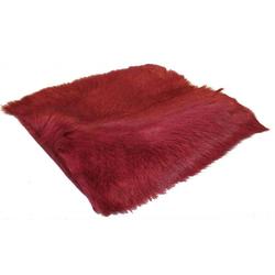 Ziegenfellkissen burgundy (LB 40x40 cm)