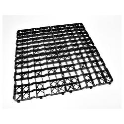 acerto® Rasenkante 8x Rasengitter Platte, 50 x 50 x 4 cm Gartengitter Rasenplatte