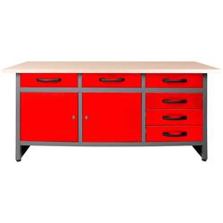 ONDIS24 Werkbank Karsten, (Set) rot