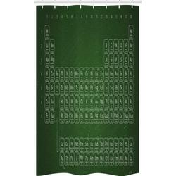 Abakuhaus Duschvorhang Badezimmer Deko Set aus Stoff mit Haken Breite 120 cm, Höhe 180 cm, Chemie-Elemente Periodensystem