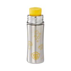Affenzahn Trinkflasche Edelstahl Trinkflasche Lila, 330 ml gelb