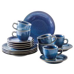 Kahla Geschirr-Set Homestyle, 18 tlg (18-tlg), Porzellan blau