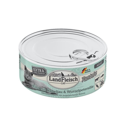 LandFleisch Cat Adult Pastete Rind, Kabeljau, Wurzelpetersilie 195g (Menge: 6 je Bestelleinheit)