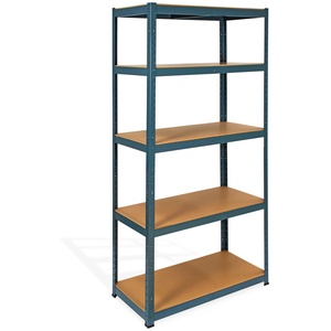 Steckregal / Kellerregal verzinkt mit 5 Holzböden 180x90x45 cm
