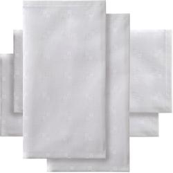 Stoffserviette, Quadrat, DDDDD (Set, 4-tlg.) weiß Stoffservietten Tischwäsche Serviette