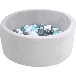 Bällebad, 300 Bälle, creme/grau/blau
