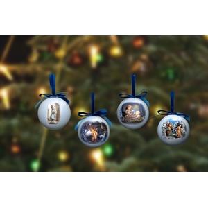 M.I. Hummel Weihnachtskugeln, 4er Set