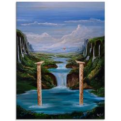 Artland Glasbild Stützen der Zeit, Landschaften (1 Stück) 45 cm x 60 cm x 1,1 cm
