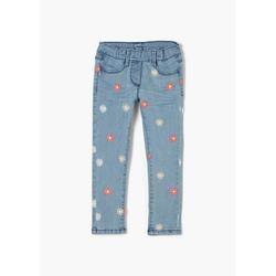 s.Oliver 5-Pocket-Jeans Slim Fit: Jeans mit Blumen-Stickerei Waschung, Stickerei 122.REG
