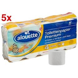 AKTION: alouette Toilettenpapier Premium 4-lagig 50 Rollen