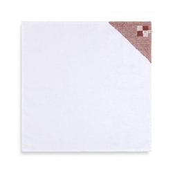 Knit Factory Geschirrtuch Geschirrtuch Block Ecru/Rost, (Handtuch)