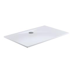 HSK Acryl-Duschwanne Plan mit Ablaufgarnitur und Füßen, weiß 80 x 120 x 3,5 cm