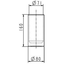 Ideal Standard Ersatzglas IQ für Toilettenbürstengarnitur Opalglas