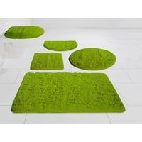 Möve Badematte Essentail/Superwuschel Höhe 40 mm, Besonders weich durch Microfaser grün rund - Ø 80 cm x 40 mm