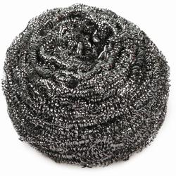 HYGOSTAR® Edelstahl-Spiral-Topfreiniger silber, Topfreiniger kraftvoll und langlebig, 1 Karton = 50 x 1 Stück, 60 g