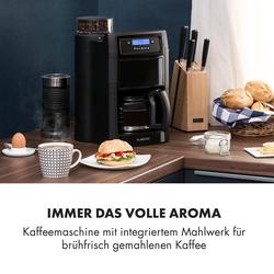 Aromatica II Kaffeemaschine, Mahlwerk, 1,25 l, schwarz